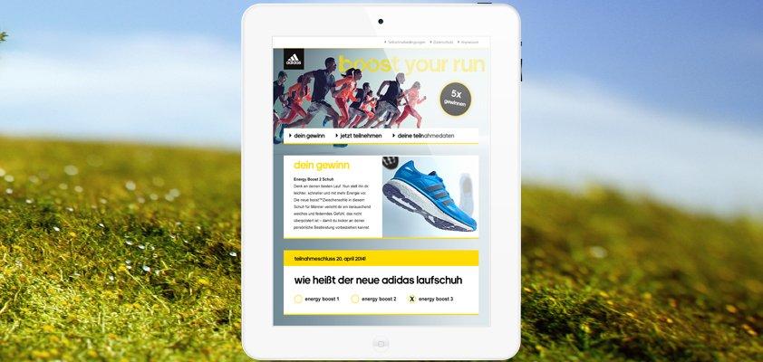 adidas Running Gewinnspiel